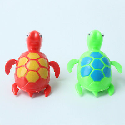 2 Pcs Wind up Swimming Turtle Pool Animal Floating Toys For Baby Kids Bathing