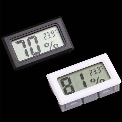 Mini Digital LCD Indoor Temperature Meter Thermometer Hygrometer White BlackTool