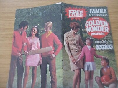 Vintage 1960s Patons Knitting Pattern Booklet Free With Golden