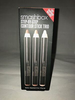 SMASHBOX   STEP-BY-STEP CONTOUR STICK TRIO Full SIZE WITH SHARPENER
