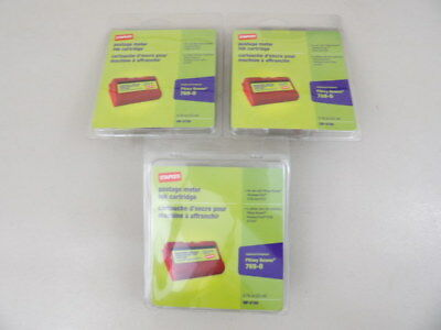 Lot of 3 Staples SIP-E700 Postage Meter Ink Cartridge Replaces Pitney Bowes 7690