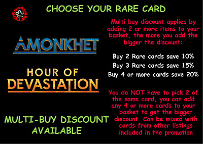MTG Amonkhet AKH Hour of Devastation HOU Choose your Rare Card Buy 2 Save 10%