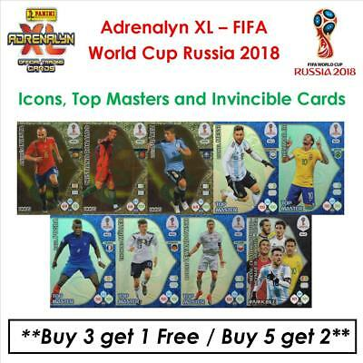Adrenalyn XL - World Cup Russia 2018: Icons, Top Masters & Invincible Cards