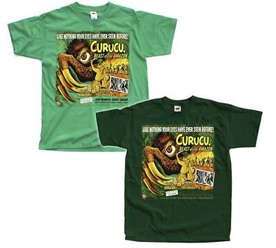 Curucu-Beast of the Amazon, Movie poster 1956, T-Shirt (GREEN) ALL SIZES S-5XL