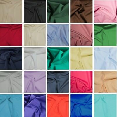 Superior Plain Coloured Polycotton Fabric Indonesian Quality Dress Poly Cotton