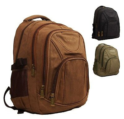 Stylish Quality Ocello Canvas Work Backpack Rucksack Camping Walking Hiking Bag