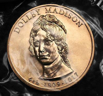 2007 Dolley Madison Bronze Spouse Medal in Original Plastic