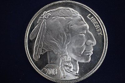 2013 1 oz .999 Buffalo Indian Head Design Silver Round