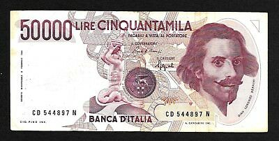 Italy 50,000 Lire 1984, P#- 115, banknote.