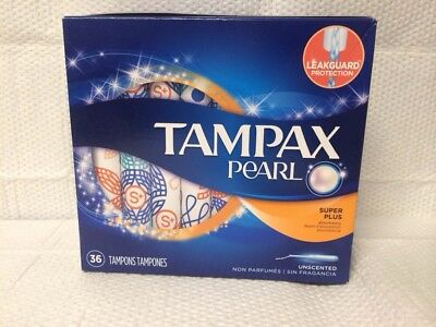 Tampax Pearl Super Plus Unscented 36 Tampons Heavy Flow Days Leakguard