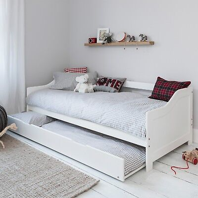 Day Bed Single Bed with Underbed. 2 beds in 1 In White