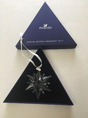 Swarovski Crystal 2017 Annual Christmas Ornament Snowflake 5257589 Broke