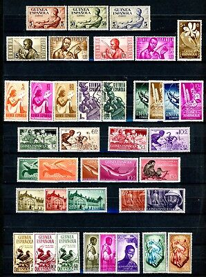 Spanish Guinea 1952 to 1955 -  37 MH + 2 Used See Scott Numbers in the Writeup
