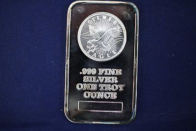 Sunshine Mint Eagle 1 oz .999 Silver Bar - Older - Toning / Tarnishing