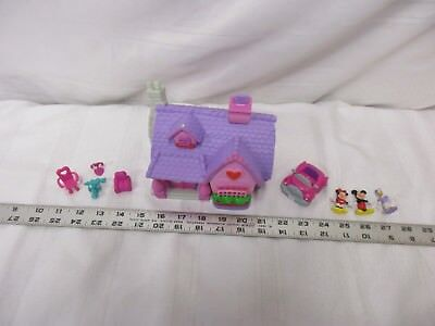 Disney micro mini toon town house lot Daisy minnie mouse purple pink green car