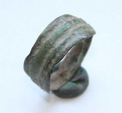 Ancient Old Viking Bronze Ring (AVG03)