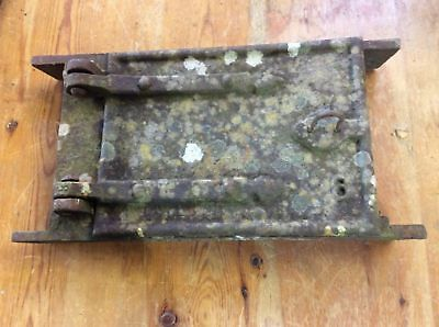 "Reclaimed Old 7 1/4""x14 1/8"" Cast Iron Chimney Inspection Door"