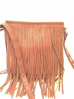 0d0f948c5a3 STEVE MADDEN FRINGE Shoulder Crossbody Bag Large Camel Brown Casual ...
