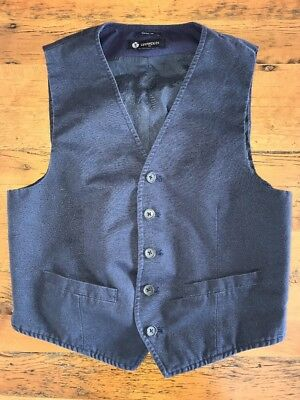 CREWCUTS Boys Thompson Suit Vest Navy Blue Size 14 Easter Dressy Occasion Cotton