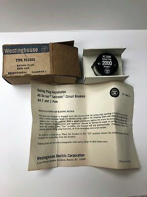 Westinghouse Pc3000 2000A Rating Plug - New In Box