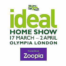ideal home show 2018 ticket sat 17th sun 18th or mon. Black Bedroom Furniture Sets. Home Design Ideas