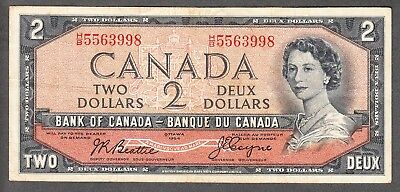 1954 Bank of Canada $2.00 Devil Face Note VF/EF - Beattie Coyne H/B 5563998