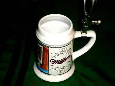 Miller High Life Lidded Beer Stein Girl In The Moon Made In Germany