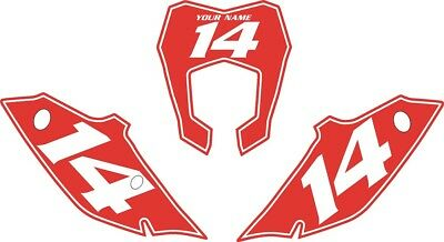 SX 2011-2012 450 Pre Printed Number plate Backgrounds BOLT SERIES