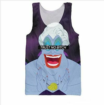Women/Menthe the cruelest bitch Trust No Bitch Ursula the 3d Print Vest Tops I29
