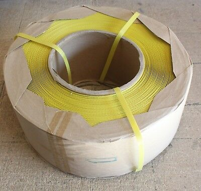 Poly(PP) Machine Strapping 12mm(width)x3000m(length)Yellow/Packing/Polypropylene