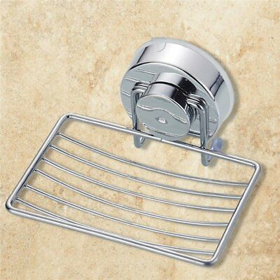 Wall Suction Cup Bathroom Bath Shower Stainless Steel Soap Dishes Holder CU