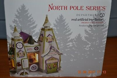 DEPT 56 NORTH POLE VILLAGE REAL ARTIFICIAL TREE FACTORY NIB *Still Sealed*