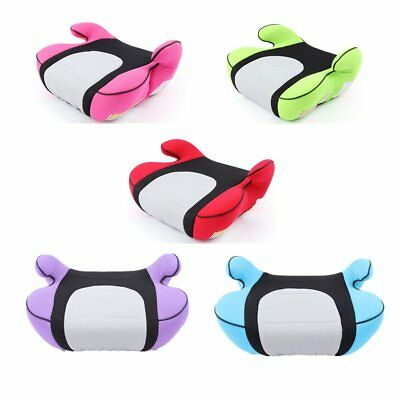 Portable Colorful Booster Car Seat Backless Child Safety Chair Kids Travel CU