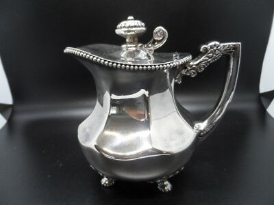 Antique Benedict Georgian Silver Plated Creamer/ Syrup Pitcher # 670