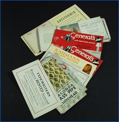 9 Assorted Vintage Ad Ink Blotters & 3 Ad Calendar Months (Jan. May 1928, 1940)