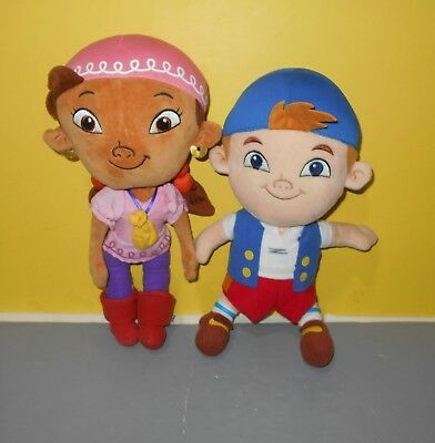 "13"" Disney Store Izzy & 12"" Cubby Plush, Jake And The Neverland Pirates Crew"