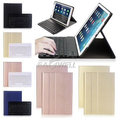 "For iPad 5th Generation 9.7"" 2017 2in1 Removable Bluetooth Keyboard+Leather Case"
