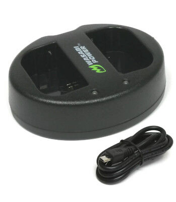 Wasabi Power Dual USB Battery Charger for Canon LP-E6, LP-E6N, LC-E6