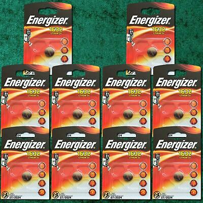 10 x Energizer 1632 CR1632 3V Lithium Coin Cell Battery DL1632 KCR1632, BR1632