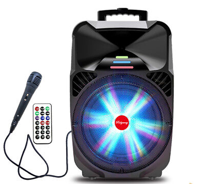 """15"""" Powered Bluetooth Portable Rechargeable Karaoke Speaker USB SD AUX 15 inch"""