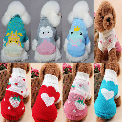 New Pet Dog Cat Knitwear Jumper Sweater Puppy Warm Coat Costume Apparel Clothes