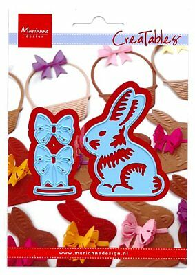 Stanzschablone Cutting die Easter bunny bow Oster-hase Schleife Marianne LR0519