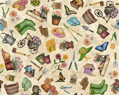 FABRIC Quilting Treasures ~ WHAT THE DR ORDERED ~ Dan Morris 24929 J by 1//2 yd
