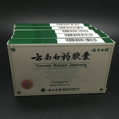 5 Boxes of Authentic Yunnan YNBY Baiyao 5x16=80 Capsules US Seller First Aid