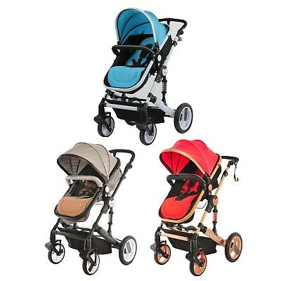 FoxHunter Foldable Baby Toddler Stroller 3 In 1 Pushchair Pram Carrycot BS02