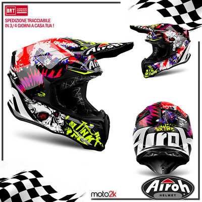 Casco Airoh Twist Crazy Black Gloss Moto Cross Enduro Offroad - Xs S M L Xl
