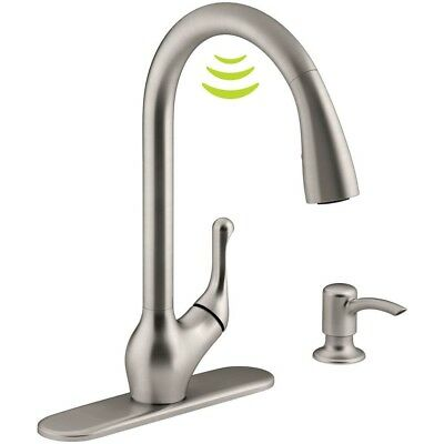 Kitchen Faucet Single Handle Pull Down Sprayer W Touchless