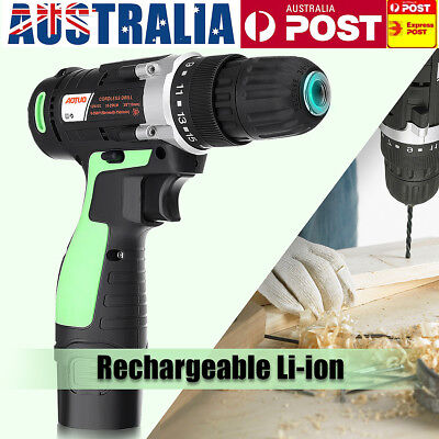 12V Electric Drill Bit Cordless Screw Driver Screwdriver LED Light Rechargeable