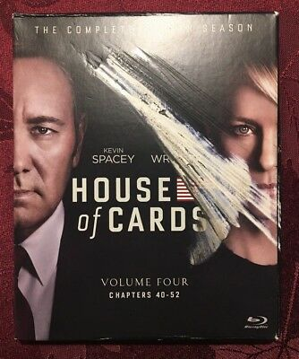 House of Cards: The Complete Fourth Season 4 (Blu-ray Disc, 2016, 4-Disc Set)