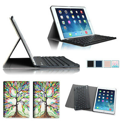 Wireless Bluetooth Keyboard Case Stand Cover for Apple iPad Air 2 (2014 Model)